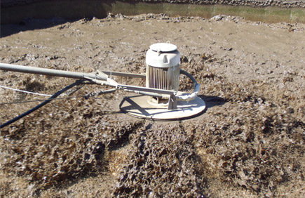 Floating Lagoon Aerator working in difficult conditions
