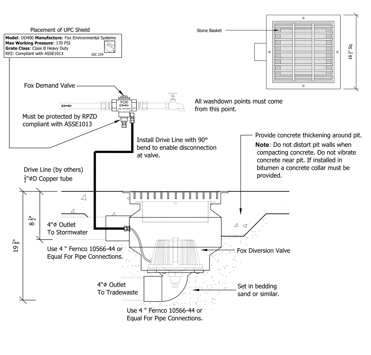 DD400 Washdown System Schematic